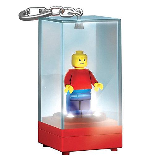 Брелок-фонарик для ключей LEGO «Футляр для минифигур» красный, синий от LEGO