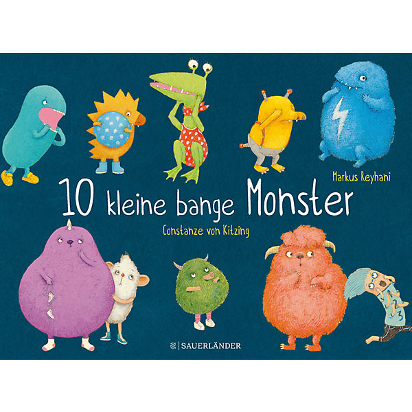 10 kleine bange Monster