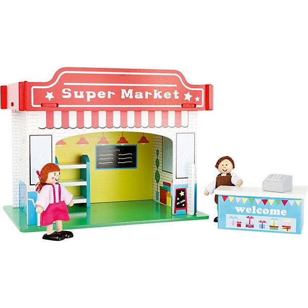 Small Foot Spielhaus Supermarkt Mit Zubehor
