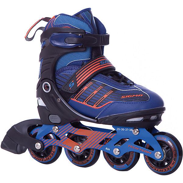 Роликовые коньки Sigma, сине-оранжевые
