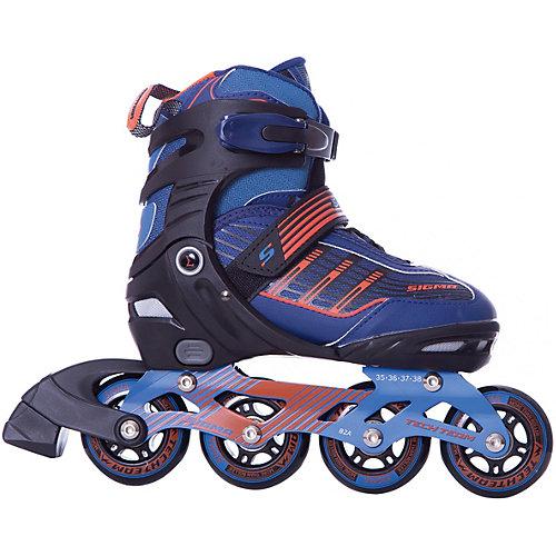 Роликовые коньки Sigma - синий/оранжевый от Tech Team