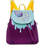 Рюкзак Grizzly, лиловый/голубой