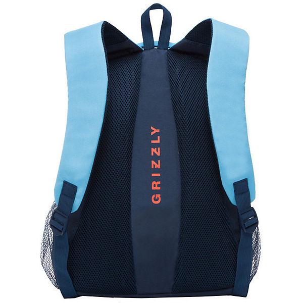 Рюкзак Grizzly, голубой/синий