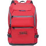 Рюкзак Grizzly, красный/серый