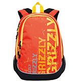 Рюкзак Grizzly, чёрный/оранжевый
