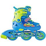 Набор: роликовые коньки, защита, шлем Jungle Set, голубые