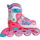 Набор: роликовые коньки, защита, шлем Jungle Set, розовые