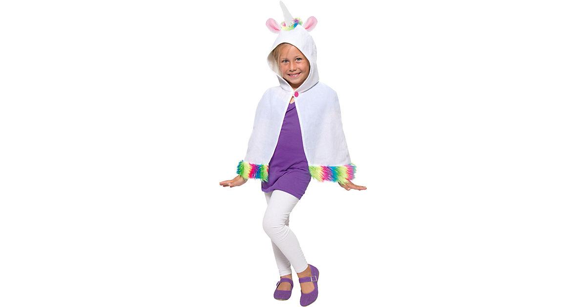 Kostüm Umhang Einhorn für Kinder weiß Mädchen Kinder