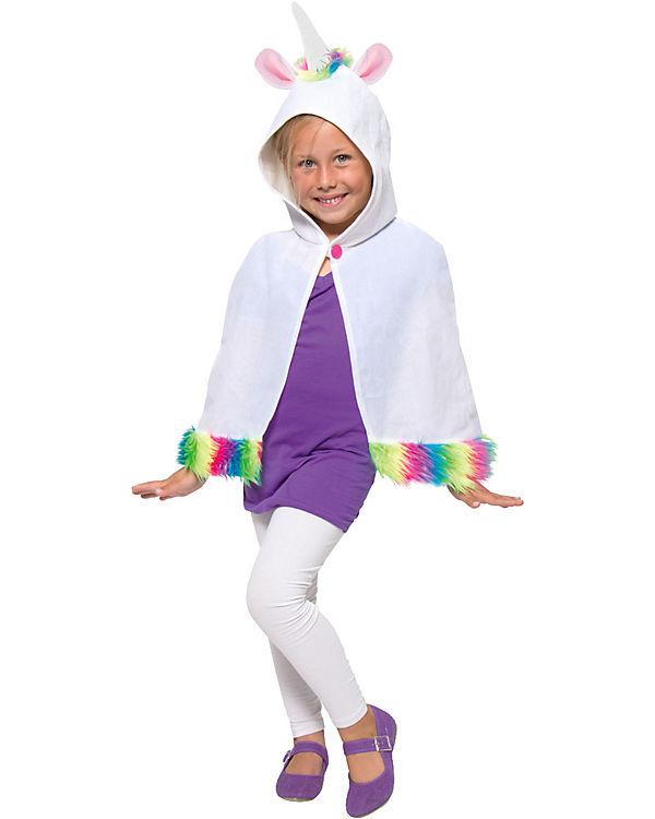 Kostüm Umhang Einhorn für Kinder, Folat