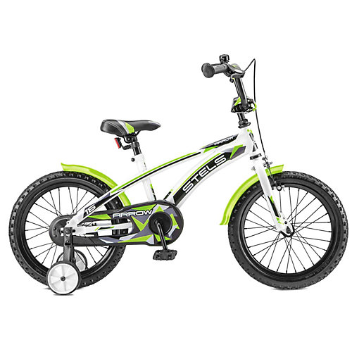 """Двухколёсный велосипед Stels """"Arrow 16"""" V020 9.5, белый/зелёный от Stels"""