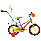 Двухколесный велосипед Forward Meteor 14 дюймов, голубой/зеленый