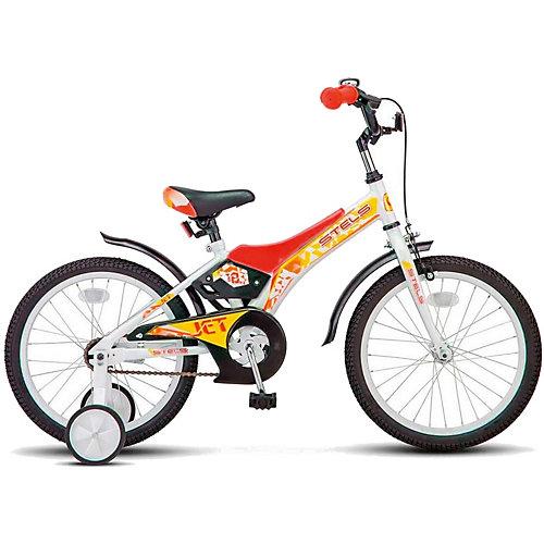 Двухколесный велосипед Stels Jet 18 дюймов Z010 10 дюймов, белый/красный - красный от Stels