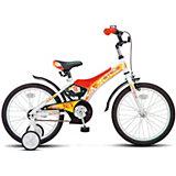 """Двухколёсный велосипед Stels """"Jet 18"""" Z010 10, белый/красный"""