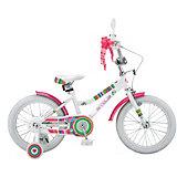 Двухколесный велосипед Stels Magic 16 дюймов V010 10.5 дюймов, белый/красный