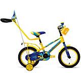 """Двухколёсный велосипед Forward """"Meteor"""" 14, желтый/синий"""