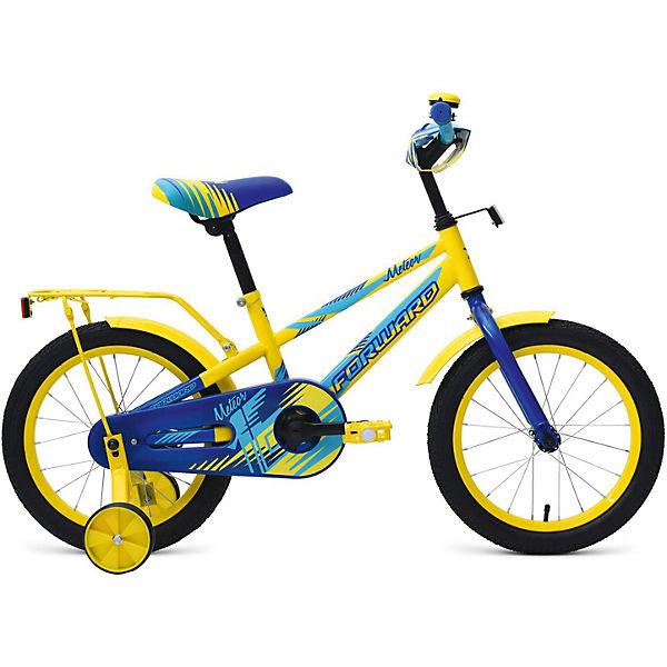 """Двухколёсный велосипед Forward """"Meteor"""" 16, желтый/синий"""