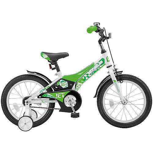 Двухколесный велосипед Stels Jet 16 дюймов Z010 9 дюймов, белый/салатовый - grün/weiß от Stels
