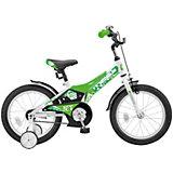 Двухколесный велосипед Stels Jet 16 дюймов Z010 9 дюймов, белый/салатовый