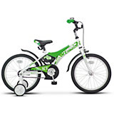 "Двухколёсный велосипед Stels ""Jet 18"" Z010 10, белый/салатовый"