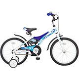 """Двухколёсный велосипед Stels """"Jet 18"""" Z010 10, белый/синий"""
