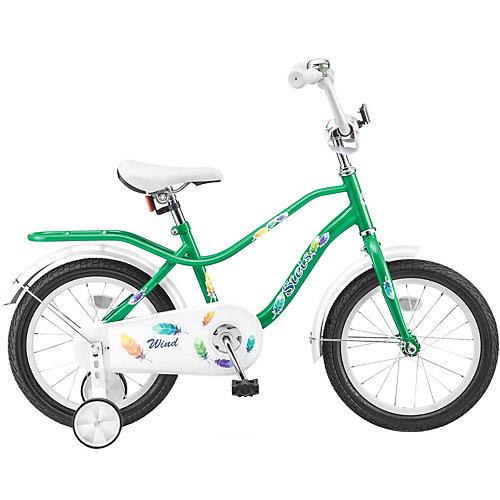 Двухколесный велосипед Stels Wind 14 дюймов Z010 9.5 дюймов, зеленый - темно-зеленый от Stels