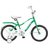 "Двухколёсный велосипед Stels ""Wind 14"" Z010 9.5, зелёный"