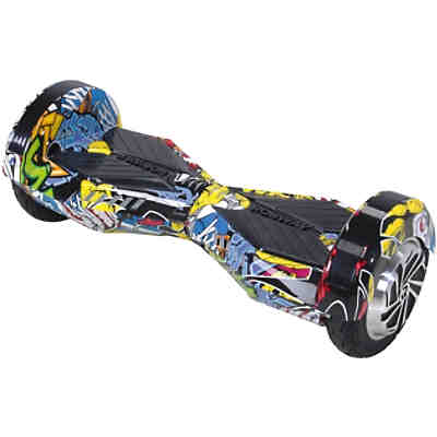 E-Balance Hoverboard ROBWAY W2 8 Zoll mit APP-Funktion, grafit-blau