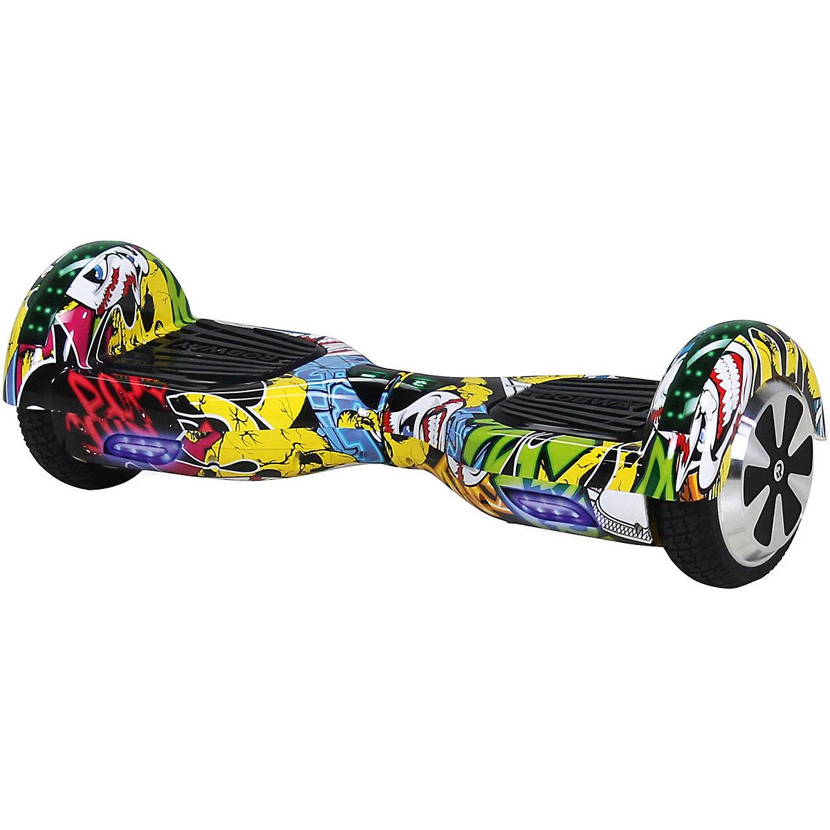 e balance hoverboard robway w1 6 5 zoll mit app funktion grafit gelb mytoys. Black Bedroom Furniture Sets. Home Design Ideas