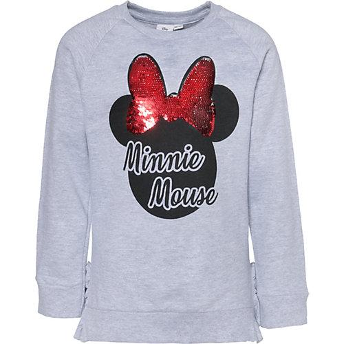 Disney Minnie Mouse Sweatshirt mit Volants und Wendepailletten Gr. 116/122 Mädchen Kinder | 04049661567794