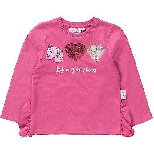 emoji Sweatshirt mit Volants Gr. 116/122 Mädchen Kinder | 04049661568982
