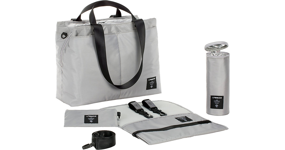 LÄSSIG · Wickeltasche Bente Bag, Greenlabel, grey