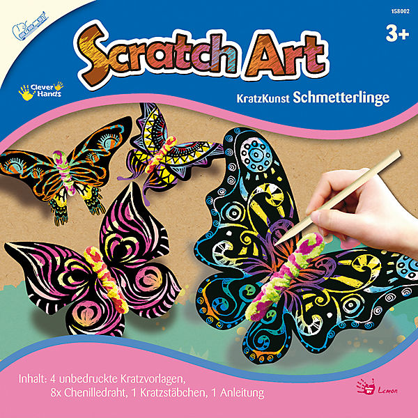 Scratch Art Schmetterlinge
