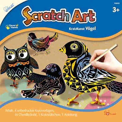 Scratch Art Vögel