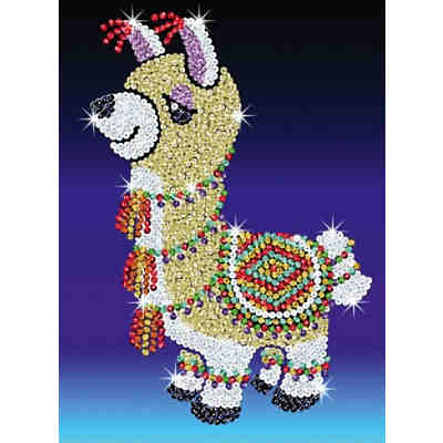 Sequin Art Red Lama