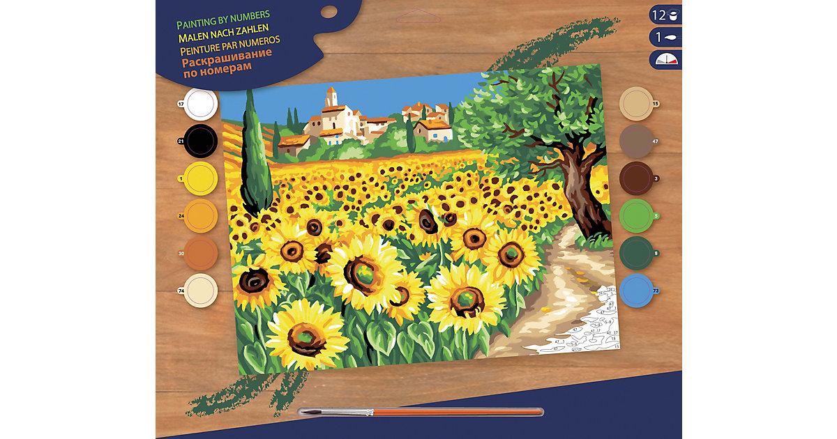 Malen nach Zahlen Senior Sonnenblumen