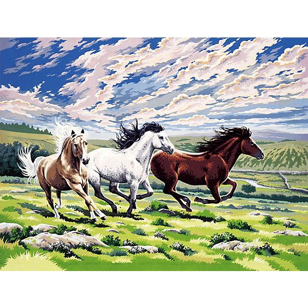 ausmalbilder malen nach zahlen pferde  malvorlagen