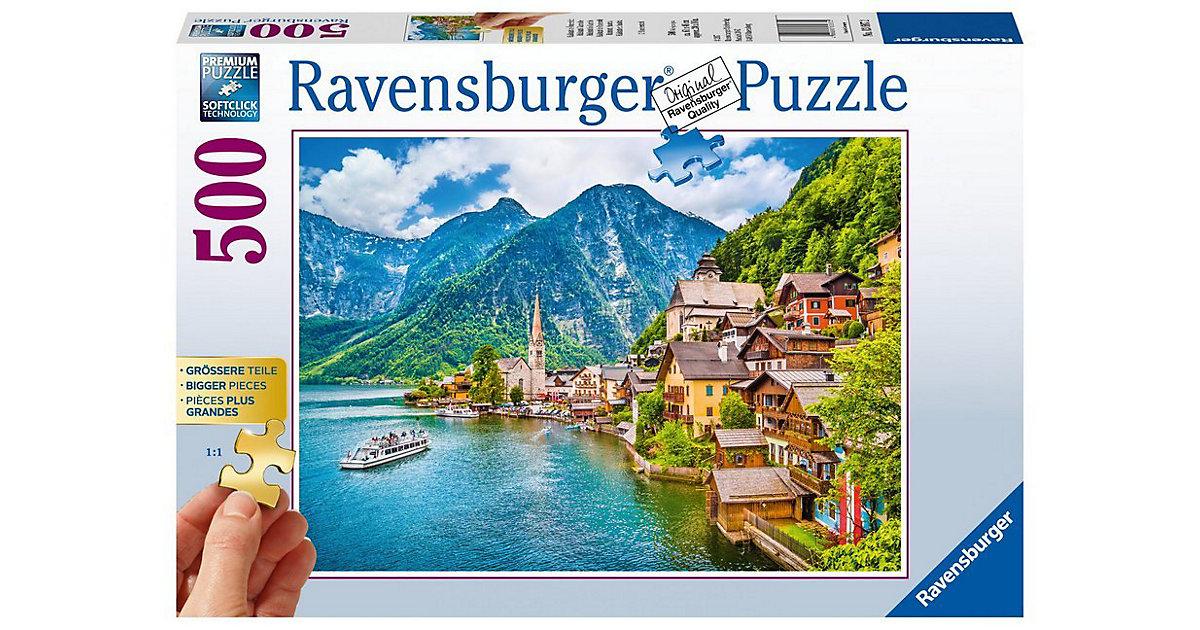 Puzzle 500 Teile, 61x46 cm, Gold Edition: größere Teile, Hallstatt in Österreich
