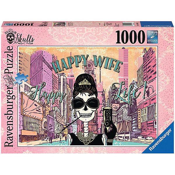 Puzzle 1000 Teile Happy Wife Happy Life, Ravensburger