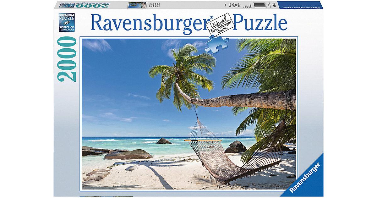Ravensburger · Ravensburger - Puzzle: Hängematte am Strand, 2000 Teile