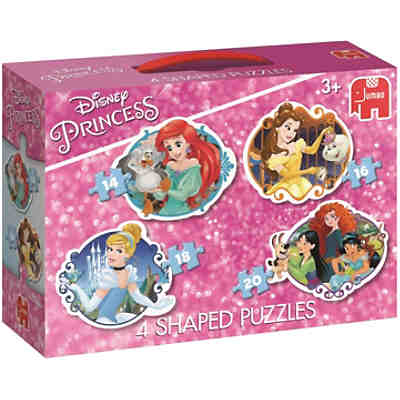 4in1 Konturenpuzzle - Disney Princess (14/16/18/20 Teile)
