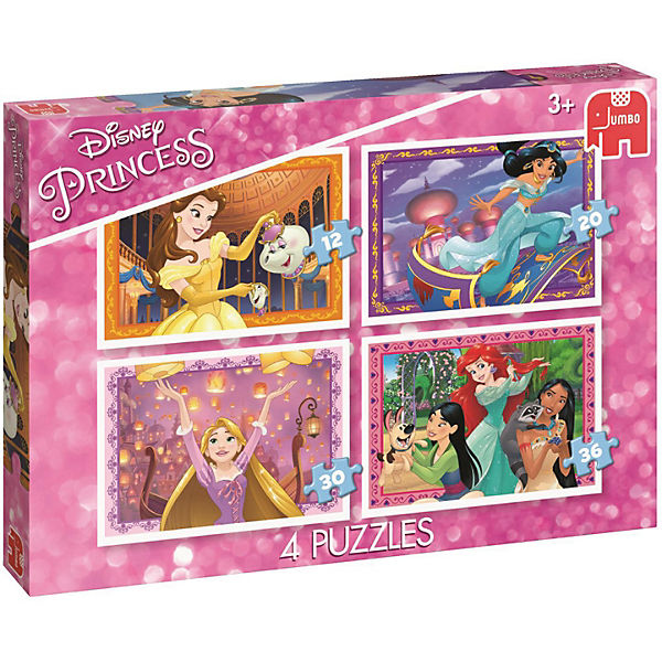 4in1 Puzzle - Disney Princess (12/20/30/36 Teile)