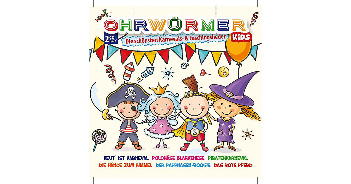 CD Ohrwürmer KIDS- Karneval-/ Fasching (2 CDs)