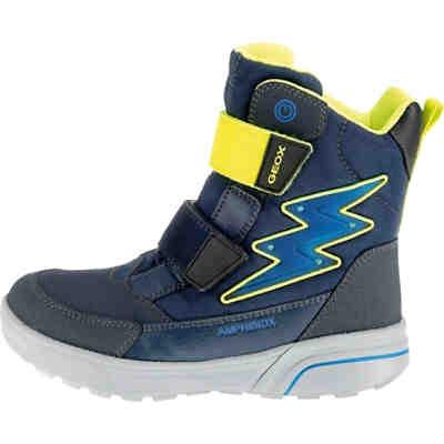 100% original schöne Schuhe Für Original auswählen Winterstiefel FLANFIL Blinkies für Jungen, Amphibiox, gefüttert, GEOX