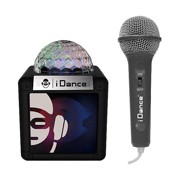 Karaokeanlage Sing Cube 100BK (BT, Disco Ball, wiROT Micro) schwarz, iDance