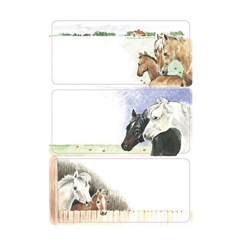 "Набор наклеек для тетрадей Herma ""Vario"" Лошадки от Herma"