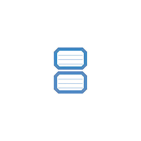 "Набор наклеек для тетрадей Herma ""Vario"" Синяя рамка"