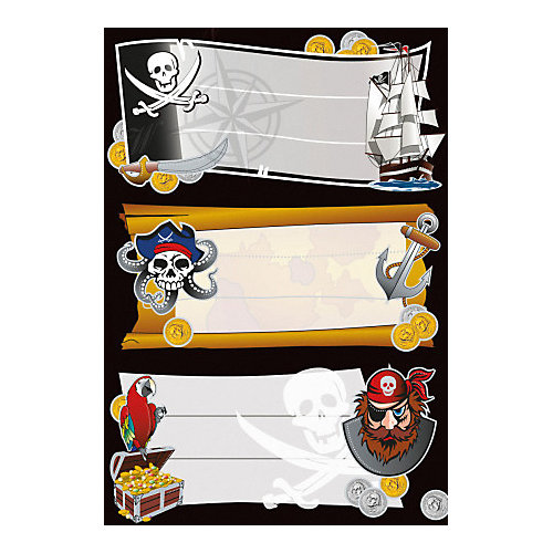 "Набор наклеек для тетрадей Herma ""Vario"" Золото пиратов от Herma"