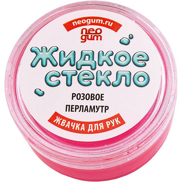 """Жвачка для рук Neogum """"Жидкое стекло"""", розовый перламутр"""