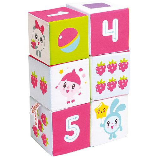 """Мягкие кубики Мякиши """"Малышарики"""" Учим Формы, Цвет и Счёт"""" от Мякиши"""