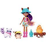 Набор с мини-куклой Enchantimals Кемпинг Енот Рейлин, 15 см